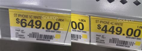 walmart tags iphone 5c price tag appears at walmart alongside iphone 4c isource