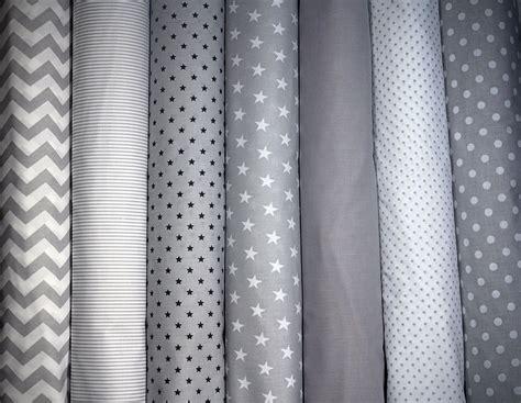 zig zag pattern history 100 cotton fabric high quality grey white stars polka