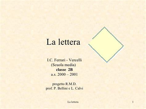 lettere vercelli la lettera