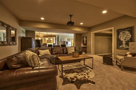 Cottage Basement Ideas by Of Dreams 2013 Cottage Style Transitional Basement