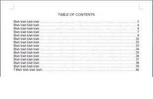 Table Of Contents Word 2013 Template by 4 Table Of Contents Templates Excel Xlts