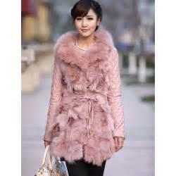 Gorgeous pink fox fur sheep skin womens fur coat thisnext