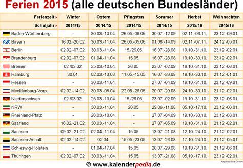 wann fangen die sommerferien in nrw an ferien 2015 in deutschland alle bundesl 228 nder