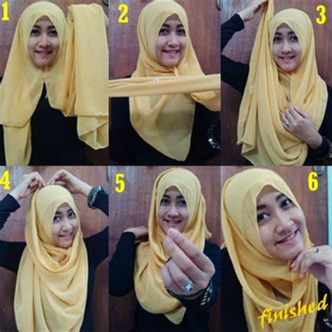 9 gambar tutorial berhijab modern dan gambar tutorial hijab modern sehari hari