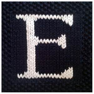 pdf knitting pattern capital letter e afghan by fionakelly