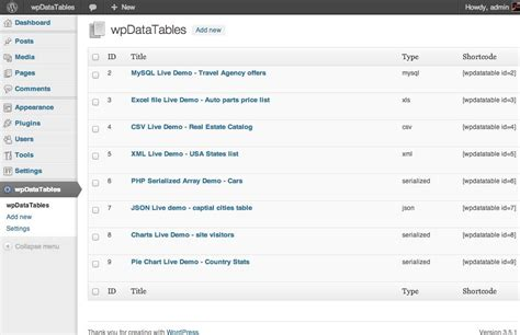 wordpress layout table make data tables in wordpress with wpdatatables justwp org