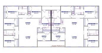 4 Bedroom Duplex Floor Plans 4 Bedroom Duplex House Plan J0602 13d Plansource Inc