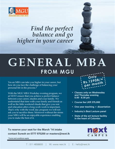 Of Moratuwa Mba In Project Management by Mgu General Mba In Srilanka Education Synergyy