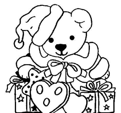 osito de peluche con regalo dibujos de navidad dibujo de osito con gorro navide 241 o para colorear dibujos net