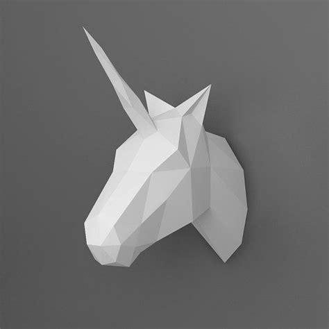 Unicorn 3d Papercraft Model Downloadable Diy Template Papercraft Unicorns And 3d 3d Papercraft Templates Free