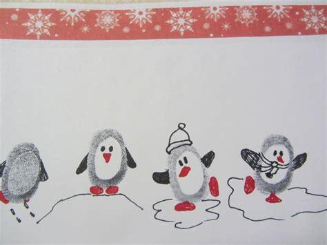 fingerprint penguins fingerprint art christmas crafts