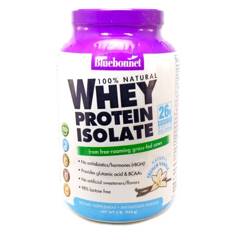 Whey Protein Isolate Whey Protein Isolate Vanilla By Bluebonnet 2 Pounds