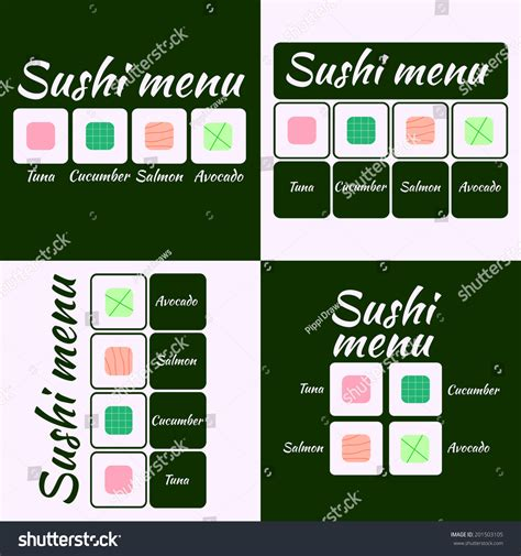 japanese menu card template sushi menu cards design template stock vector 201503105