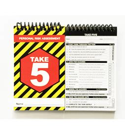 take 5 risk assessment template take 5 books personal risk assessment t5 001 aaa