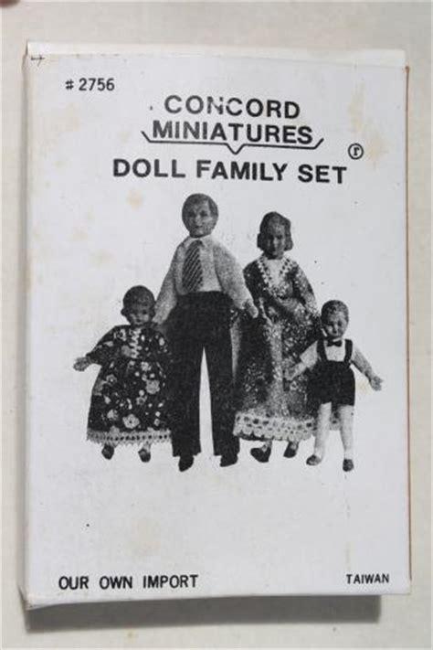 vintage dollhouse family miniature rubber doll house