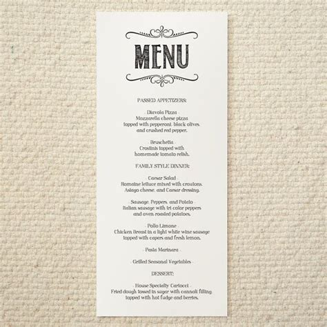 menu template pdf diy wedding menu handlettered rustic printable