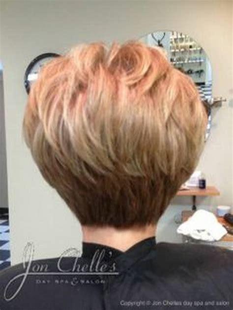 back views of gray hair styles short stacked haircuts makeup hair me pinterest