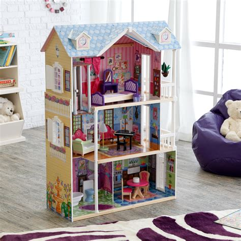 Kidkraft Majestic Mansion Dollhouse With Furniture by Kidkraft Majestic Mansion Wooden Dollhouse With 33 Pieces