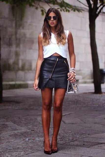 Chika Asymetric Top how to chic asymmetric leather zipper skirt my style