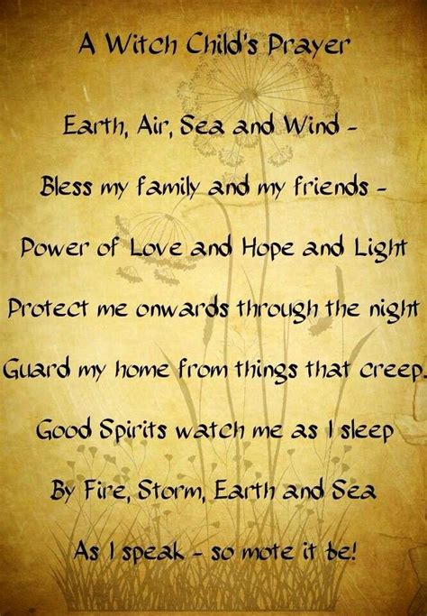 wiccan prayer bed time prayer spells prayers and rituals