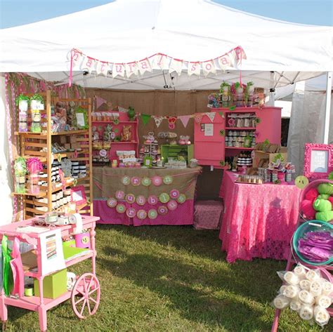 Handmade Marketplace Craft Show - pretty pink handmade soap booth craft display ideas