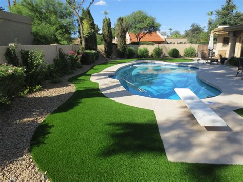 landscaping backyard oasis 18 pool design ideas in artificial grass next to your pool creates a backyard