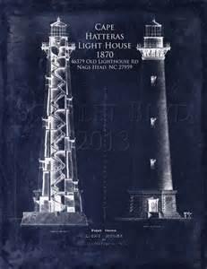 Lighthouse architectural blueprint art print lighthouse elevation