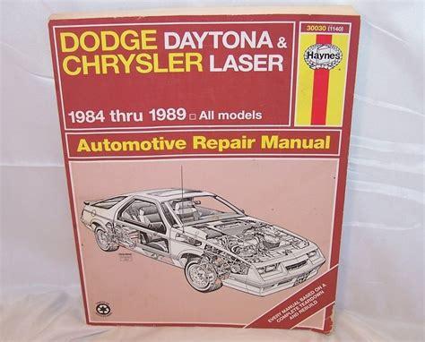 service manuals schematics 1984 dodge daytona free book repair manuals the curious phoenix vehicle manuals guides