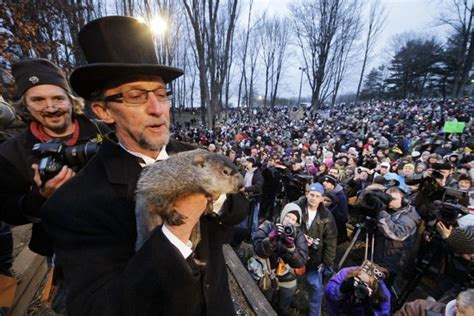 groundhog day gobblers knob s i chuck doesn t see shadow punxsutawney phil does ny