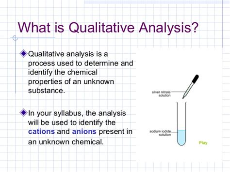 qualitative analysis chemistry flowchart 3 qualitative analysis