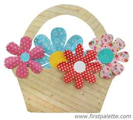 basket of flowers craft kids crafts firstpalette com