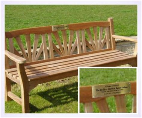 brass plaques for benches brass memorial bench plaque brunel engraving