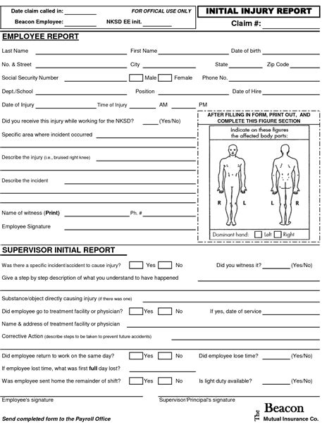 Best Photos Of Employee Injury Report Form Employee Injury Report Form Template Employee Employee Injury Report Form Template