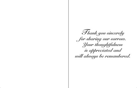 Template For Thank You Card After by Thank You Card Sle Musiccityspiritsandcocktail