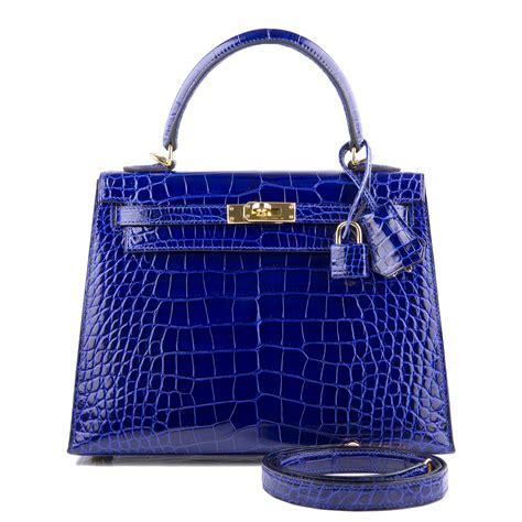 hermes blue electric 25 hermes bag 25cm blue electric shiny alligator gold