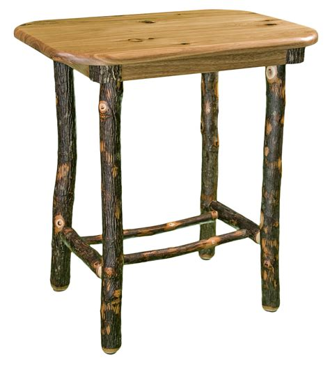 Nightstand Legs by Nightstand With Bark Legs Timber Lodge Furniture