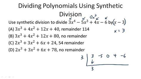 dividing polynomials exle 2