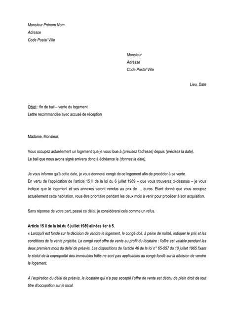 Modelé de fin de bail – vente du logement - DOC, PDF