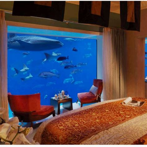 hotel room with aquarium wall underwater suites atlantis dubai oh the places you ll go pinter