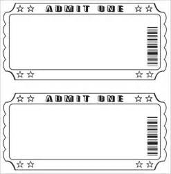 Editable Ticket Template 37 ticket templates free word eps psd formats