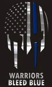 warriors bleed blue blessed are the peacemakers