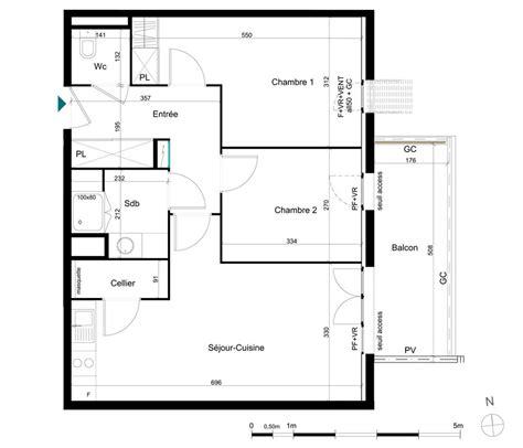 combien de chambre dans un t3 appartement n 176 111 la palombine t3 de 61 51 m 178 224