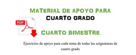 material didctico de apoyo del cuarto grado para el material de apoyo para cuarto grado cuarto bimestre