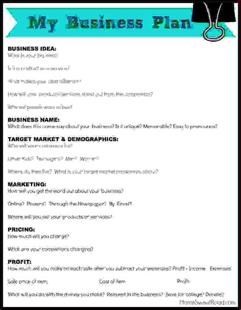 Business Idea Template 5 business ideas procedure template sle