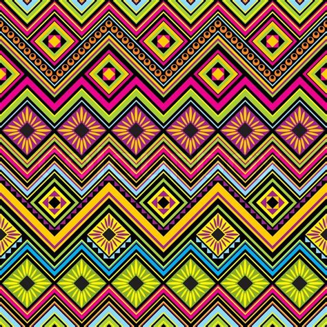 mexican pattern history vector seamless background with mexican zigzag geometric