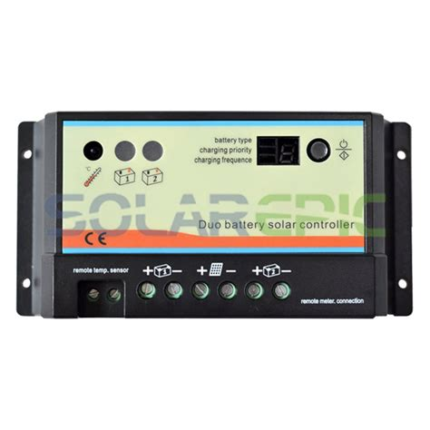 Solar Charge Controller 12v 24v 20apanel Surya Charger Lcd 12v24v 20a 3 20a pwm duo battery solar panel charge controller regulator 12v 24v auto dual battery solar