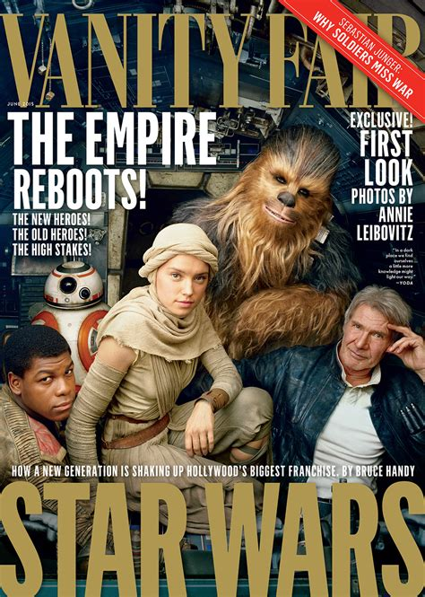 wars the awakens cast poses for vanity fair s