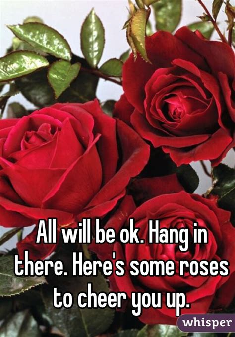 Cheer Up You Some Visitors by All Will Be Ok Hang In There Here S Some Roses To Cheer