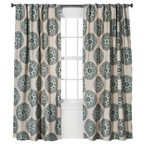 outer curtain blue medallion w grey outer curtain sheer white inner