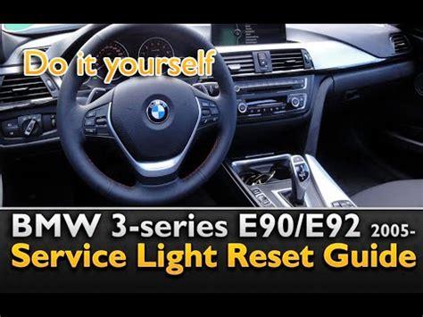 bmw service light on bmw 3 series service light reset bmw e90